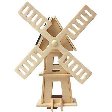 Dřevěné 3D Puzzle - Solární větrný mlýn II
