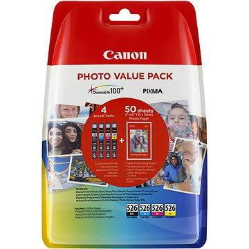 Canon CLI-526 multipack + fotopapír PP-201