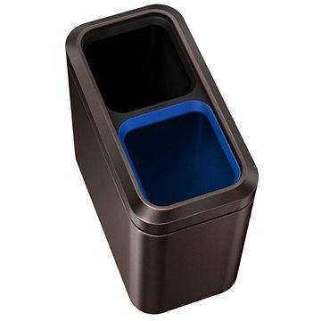 Simplehuman Koš na tříděný odpad 10/10l, otevřený, dark bronze