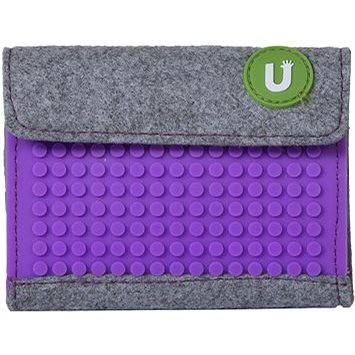 Pixelová peněženka fialová 06