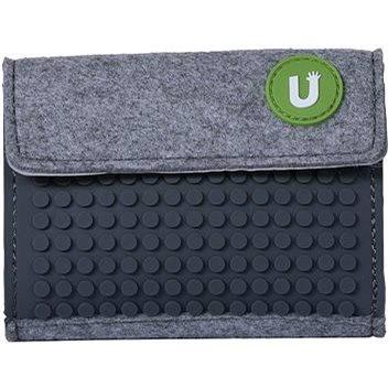Pixelová peněženka šedivá 06