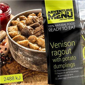 AdventureMenu - Jelení ragú s bramborovými špalíčky