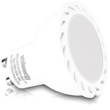 Whitenergy COB MR16 GU10 7W - bílá mléčná