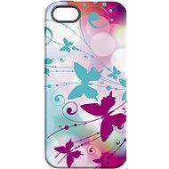 """MojePouzdro """"Bílý motýl"""" + ochranné sklo pro iPhone 5s/SE"""