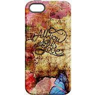 """MojePouzdro """"Láska je Všechno"""" + ochranné sklo pro iPhone 5s/SE"""
