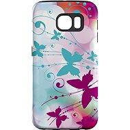 """MojePouzdro """"Bílý motýl"""" + ochranná fólie pro Samsung Galaxy S6 Edge"""