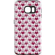 """MojePouzdro """"Srdíčka"""" + ochranná fólie pro Samsung Galaxy S6 Edge"""