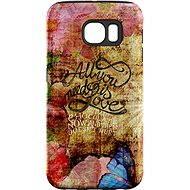 """MojePouzdro """"Láska je Všechno"""" + ochranná fólie pro Samsung Galaxy S7 Edge"""