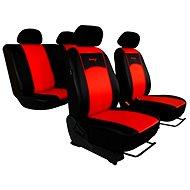 SIXTOL Autopotahy kožené černočervené
