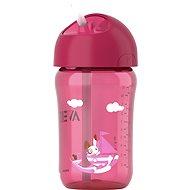 Philips AVENT láhev s brčkem 340ml, růžový