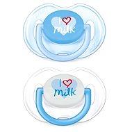 Philips AVENT dudlík TEXT 0-6 měsíců, bílý a modrý