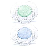 Philips AVENT dudlík PRŮHLEDNÝ 0-6 měsíců, modrý a zelený