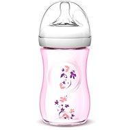 Philips AVENT kojenecká láhev Natural, 260 ml - růžová, květ