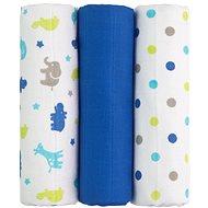 T-tomi Pleny látkové 3ks - modré žirafy + DÁREK