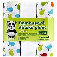 T-tomi Pleny bambusové 3ks - ptáčci + DÁREK