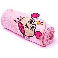 Sensillo osuška s kapucí - růžová