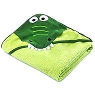 Sensillo osuška s kapucí krokodýl - zelená