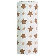 T-tomi Bambusová osuška 1ks - béžové hvězdičky + DÁREK