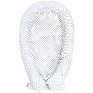 New Baby Luxusní Hnízdečko pro miminko z Minky - bílé