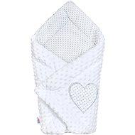 New Baby Luxusní Zavinovačka z Minky New Baby - bílá