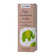 T-tomi BIO Velká bambusová osuška - zelení sloni