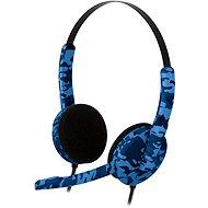 Bigben PS4HEADSETCAMOB, modré maskování