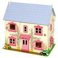 Růžový dětský domeček pro panenky