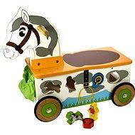 Dřevěný motorický vozík Koník