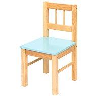 Dětská modrá dřevěná židle
