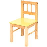 Dětská žlutá dřevěná židle