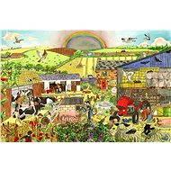 Dřevěné puzzle - Farma