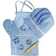 Modrý set šéfkuchařky