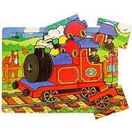 Dřevěné puzzle - Vlak