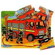Dřevěné puzzle - Hasiči