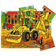 Dřevěné puzzle - Bagr