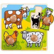 Dřevěné vkládací puzzle - Farma