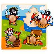 Dřevěné vkládací puzzle - Piráti