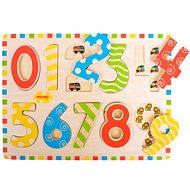Dřevěné vkládací puzzle - Počítání s obrázky