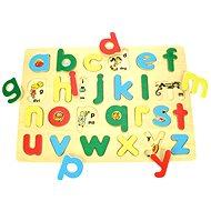 Dřevěné vkládací puzzle - Anglická malá abeceda s obrázky