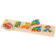Dřevěné široké vkládací puzzle - Hračky
