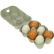 Dřevěné potraviny - Dřevěná vajíčka v krabičce