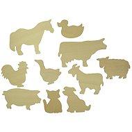 Dřevěné obkreslovací vzory - Obrázky domácích zvířat