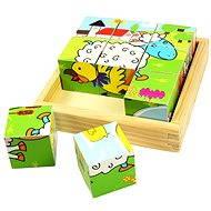 Bigjigs dřevěné kostky - Zvířátka