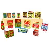 Dřevěné potraviny - Různá balení potravin