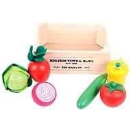 Dřevěné potraviny - Salát v přepravce