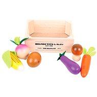 Dřevěné potraviny - Zelenina v přepravce