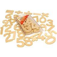 Dřevěné hračky - Číslice a počítání