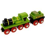 Dřevěné vláčkodráhy - Zelená lokomotiva s tendrem