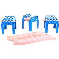 Dřevěné vláčkodráhy - Set mostní konstrukce