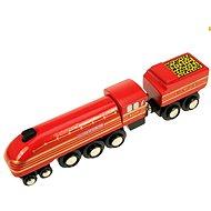 Dřevěná replika lokomotivy Duchess of Hamilton